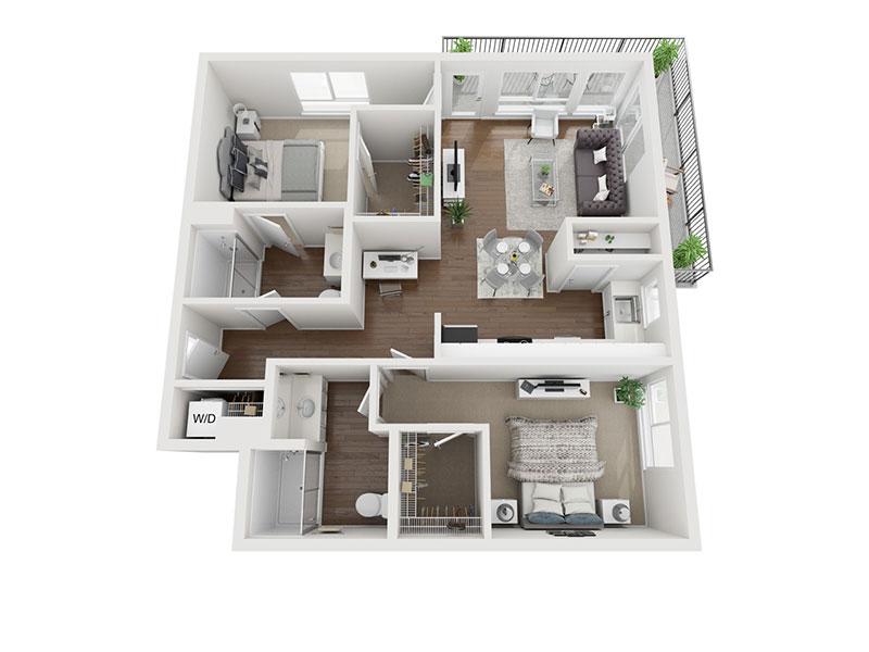 Granny Smith 3D Floor plan rendering
